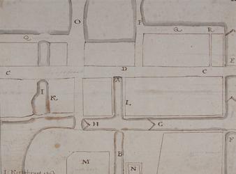 RI-257 Reconstructie van de plattegrond van de oude sluis en de schotdeuren, anno 1461