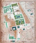 RI-267 Plattegrond van wijk E, het westelijke deel van de stadsdriehoek, gelegen tussen het Delftschevaart en de ...