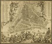 RI-27 Plattegrond van Rotterdam. Links en rechts boven verwijzingen naar straten, gebouwen enz. (nrs. 1 - 106, resp. ...