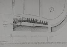 RI-376 Afbeelding van de huizen aan de noordzijde van het Hang en een los- en laadplaats bij de Steigersgracht, anno 1599.