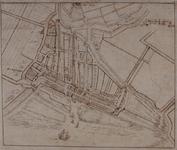 RI-4 Reconstructie van de plattegrond van Rotterdam omstreeks 1300.