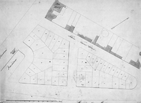 RI-411-1 Plattegrond van 45 uitgegeven grondpercelen op het Nieuwewerk, tussen de Leuvehaven en de Veerdam, de ...