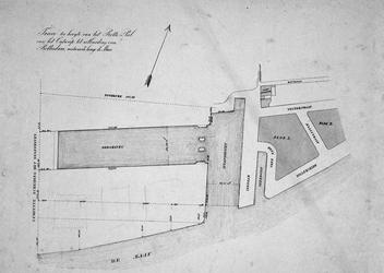 RI-423 Plattegrond van de te maken Berghaven of Westerhaven.