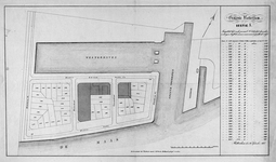 RI-425-1 Kaart met aanduiding van de kadastrale nummers van grondpercelen gelegen aan de Westerkade en de Westerhavenkade