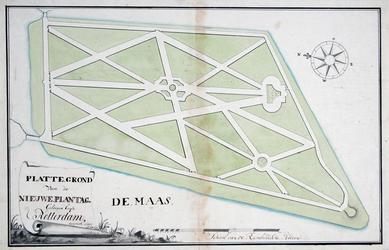 RI-455 Plattegrond van de Nieuwe Plantage [thans Oude Plantage]