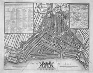 RI-58 Plattegrond van Rotterdam. Inzet rechtsboven: kaart van Midden-Nederland.
