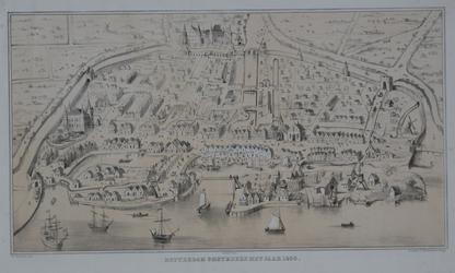 RI-6 Historische plattegrond van Rotterdam