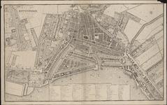 RI-61 Plattegrond van Rotterdam. Inzetkaartje linksboven: de Rotterdamse Schie met buitenplaatsen.