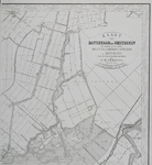 RI-65-B Kaart van Rotterdam en omstreken in vier bladen. Blad B rechtsboven met daarop de Rotte en Hillegersberg.