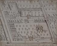 RI-653 Plattegrond van het Bagijnhof en het Minne- en Cellebroedersklooster, anno 1565.