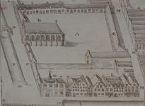 RI-656 Plattegrond van het Sint-Agnietenklooster aan de Botersloot, omstreeks het jaar 1500.