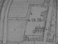 RI-666 Plattegrond van het Sint-Agathaklooster, of Witte Zusteren Klooster, gelegen aan westzijde van de ...
