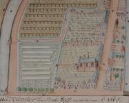 RI-667 Plattegrond van het klooster van Sint-Agatha, of Witte Zusteren Klooster, gelegen aan westzijde van de ...