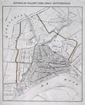 RI-67 Kaart met een plattegrond van Rotterdam en de watergangen aan weerszijden van de stad.