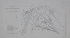 RI-82-b Plankaart voor de aanleg van een spoorwegverbinding door de stad Rotterdam, via Feijenoord naar Dordrecht