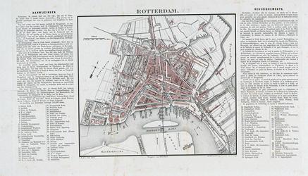 RI-82-c Plattegrond van Rotterdam. Het weergegeven gebied wordt begrensd door het Park, de Rotterdamse Schie, het Oude ...