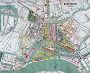 RI-82-l Plattegrond van Rotterdam. Het weergegeven gebied wordt begrensd door het Park, de Rotterdamse Schie en ...