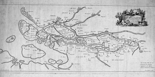 RI-83 Historiekaart van de loop van de Maas en de Merwede voor de overstroming van 1421.