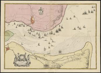 RI-84 Kaart van de Maasmond. Noordzee, Brielle, en Maassluis