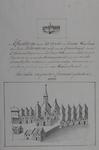 RI-854 Afbeeldingen in twee formaten van het eerste Rotterdamse weeshuis, aan de Hoogstraat tegenover de ...
