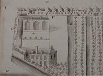 RI-855 Plattegrond van het Gereformeerd Burgerweeshuis aan de Bredestraat en Goudse Wagenstraat, op het terrein van het ...
