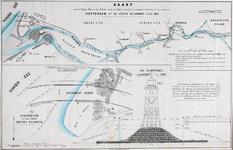 RI-91 Kaart van de Nieuwe Maas en het Scheur waarop het ontwerp voor de verbetering van de vaarweg van Rotterdam naar ...