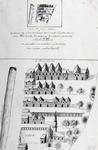 RI-958 Plattegrond van de Sint-Jorisdoelen getekend naar de stadsplattegrond van Hendrik Haastens en dezelfde ...