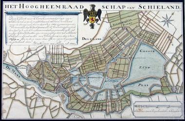 RISCH-13 Kaart van het Hoogheemraadschap van Schieland