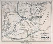 RISCH-189 Kaart van het veen- en plassengebied gebied rond Gouda.