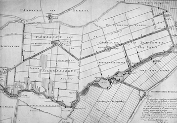 RISCH-21 Kaart van het ambacht van Hillegersberg en van het ambacht van Bleiswijk