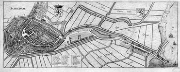 RISCH-239 Kaart van de stad en haven van Schiedam