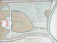 RISCH-73 Plattegrond van het slot Honingen omstreeks het jaar 1689