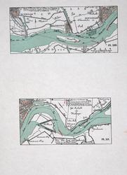 VI-12 Kopie van een kaart van de Nieuwe Maas ter plaatse van Delfshaven, met aanwijzing van enkele projecten ter ...