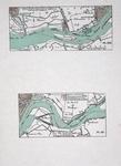 VI-14 Kaart van de Nieuwe Maas van de Hollandse IJssel tot Rotterdam met geprojecteerde waterstaatswerken
