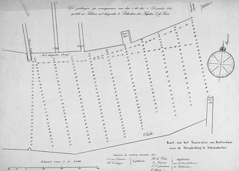 VI-24 Kaart van de Nieuwe Maas van de Veerdam tot de sleephelling te Schoonderloo met vermelding van vaardiepten