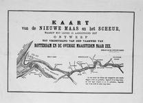 VI-27 Kaart van de Nieuwe Maas en het Scheur en het plan tot verbetering van de vaarweg van Rotterdam naar de Noordzee