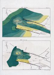 VI-34 Hydrografische kaarten van de monding van de Nieuwe Waterweg, oktober 1878 en januari 1880
