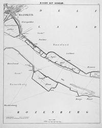 VI-56-7 Kaart van de Nieuwe Maas en het Scheur van Rotterdam tot de grensscheiding der gemeente 's Gravenzande en ...