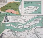 VI-7 Verkleinde kopieën van kaarten van de Brielse Maas, Rozenburg en Blankenburg