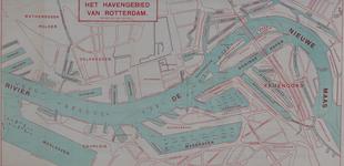 VI-83-01 Kaart van het havengebied van Rotterdam. in het westen begrensd door de Waalhaven, de Keilehaven.