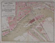 VII-1 Kaart van de haven van Rotterdam, uitgegeven door de scheepvaartonderneming J. Laming & Sons.