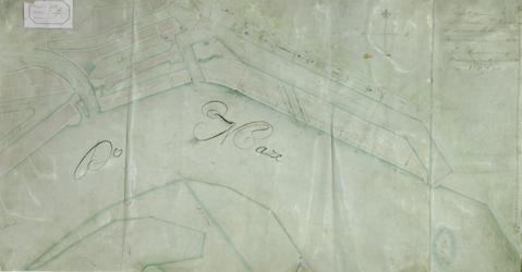 VII-141-01 Plattegrond met een plan voor een nieuwe scheepmakershaven ten oosten van de stadsdriehoek