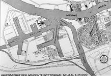 VII-154-55 Kaart van Vondelingenplaat en het Botlekgebied