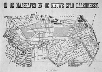 VII-357-00-01 Kaart van de te graven Maashaven en het gebied daaromheen