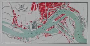VII-4 Kaart van de havens van Rotterdam