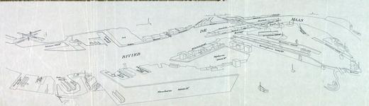 VII-44-01A Kaart van de haven van Rotterdam, in vogelvluchtperspectief
