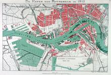 VII-47 Kaart van de havens van Rotterdam. Inzetkaartje: de waterweg van Rotterdam naar zee