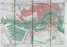 VII-47A Kaart van de havens van Rotterdam. Inzetkaartje: de waterweg van Rotterdam naar zee