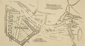 VII-521 Schetskaart van de Rotterdamse havens en de te graven Waalhaven
