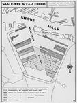 VII-526 Kaart met een overzicht van baggerwerkzaamheden ten behoeve van de uitbreiding van de Waalhaven
